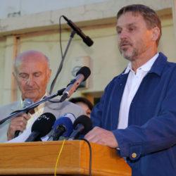 Joakim Palme och författaren Georgios Logothetis