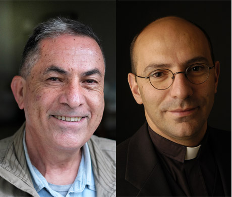 Gideon Levy och Mitri Raheb